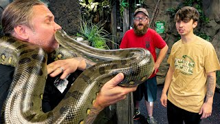 BIG ANACONDA GOT MY NOSE WHILE WEIGHING HER!!!  | BRIAN BARCZYK by Brian Barczyk