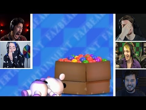 Let's Players Reaction To Playtesting The Ball Pit | Fnaf 6 (Freddy Fazbear's Pizzeria Simulator)