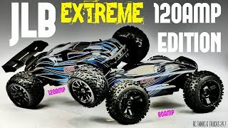 Please subscribe ➜ https://goo.gl/KyaLHPExtreme 120amp Cheetah 91101 available here ➜ https://goo.gl/pNiRbeSo here is the Extreme upgraded 120amp JLB Racing Cheetah 21101. Comes with a 120amp hobbywing esc & Flysky electronics. It looks very similar to the older model but overall a nice upgrade over the 80amp no name ESC.More videos to come.Follow me on Facebook ➜ https://www.facebook.com/Rctanksandtrucks247Any questions please leave them in the comments and I will do my best to answer them.If you like the video please give it a thumbs up, share and subscribe for the latest videos.