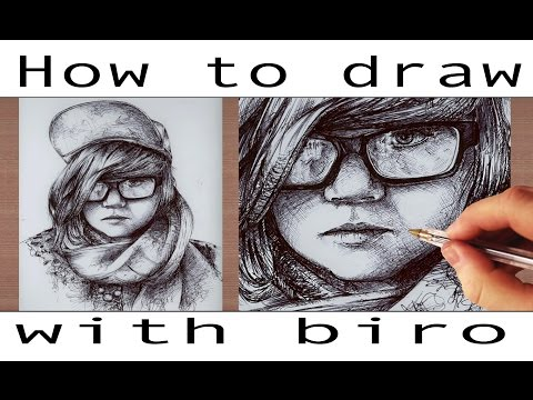 Tutorial // How To Draw With Biro Ballpoint Pen