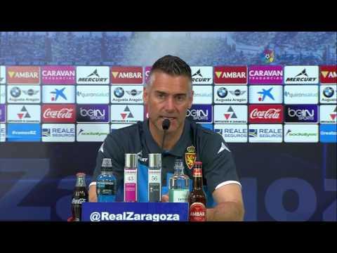 Rueda de prensa de Carreras tras el Real Zaragoza (0-1) Gimnàstic de Tarragona