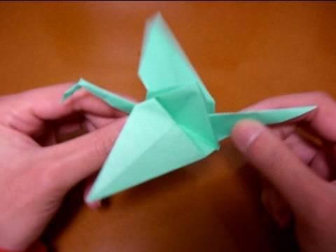 Origami: Un ave que vuela