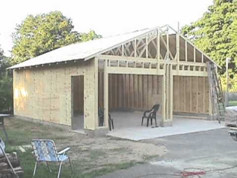 Building Your Own 24'x24' Garage And Save Money. Steps From Concrete To Framing.