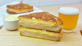Learn how to make delicious Monte Cristo sandwiches with ham, turkey and Gouda cheese. These sandwiches can be served sprinkled with powdered sugar and jam if desired.▼ INGREDIENTS LIST:- (ingredients for 2 sandwiches) -- 6 slices of white sandwich bread- 4 slices of cooked ham- 4 slices of turkey- Grated Gouda cheese to taste- 5 tablespoons of mayonnaise- 2 tablespoons of yellow mustard- 2 medium eggs- 50 ml (1.7 oz) of milk- 50 g (1.7 oz) of butter- Ground black pepper- Salt⇨ Subscribe to Very Easy Recipes! ⇦http://www.youtube.com/subscription_center?add_user=VeryEasyRecipes⇨ Follow us on Social Networks! ⇦- Twitter: http://twitter.com/VeryEasyRecipes- Facebook: http://facebook.com/VeryEasyRecipes- Instagram: http://instagram.com/VeryEasyRecipes- Google+: http://plus.google.com/+VeryEasyRecipesTweet and tag us in your recipe attempts!P.S. We are not native speakers of English, so we apologize if there are any incomprehensible words, typos or grammatical errors in this video. We hope you enjoy the recipe!