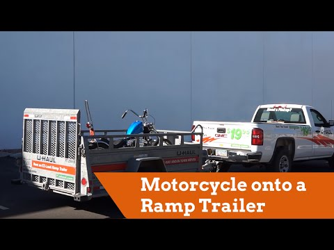 How To Load A Motorcycle Onto A Ramp Trailer