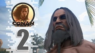 First House! - EP02 - CONAN EXILES (Removing The Bracelet)