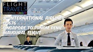 Video JC INTERNATIONAL AIRLINES Inaugural Flight Review: QD676 Singapore to Phnom Penh, Cambodia MP3, 3GP, MP4, WEBM, AVI, FLV Juni 2018