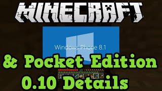 Minecraft Windows Phone Confirmed + Details (Pocket Edition 0.10)