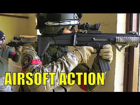 scoutthedoggie - Airsoft guns in action. 1 of over 400 airsoft war videos at http://www.youtube.com/scoutthedoggie Filmed by the No1 YouTube video maker in Scotland, over 120...