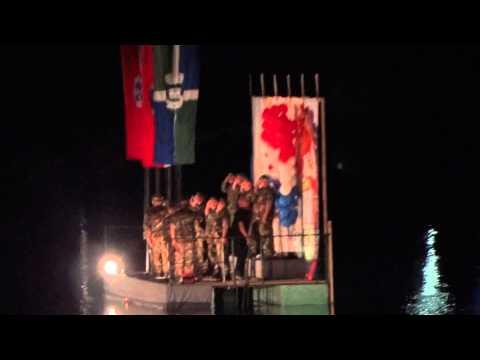 ..Keltska noć, Sisak, 2013. - završna splav i vatromet