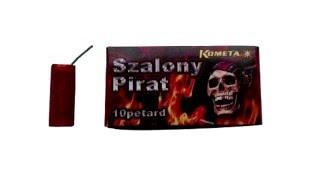 Тест петарды Kometa Szalony Pirat P1215