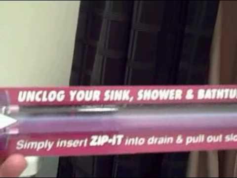 Zip-It drain tool - you won\'t believe it!