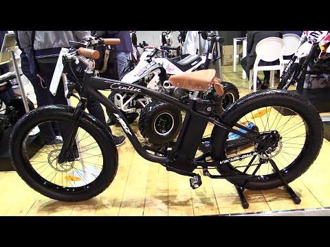2015 E-Bike Cruiser 500W 48V Electric Bicycle – Walkaround – 2014 EICMA Milan Moto Show