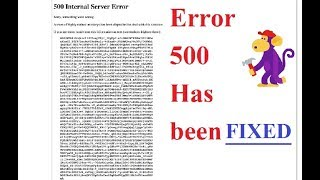 How to Fix 500 Internal Server Error on Youtube Channel - Monk...