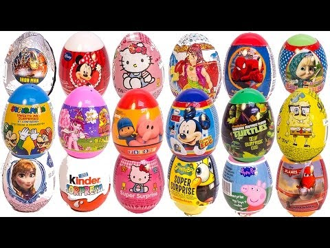 SURPRISE EGGS PEPPA PIG MICKEY MOUSE MINNIE MOUSE Маша и Медведь POCOYO SPIDERMAN PLAY DOH EGGS
