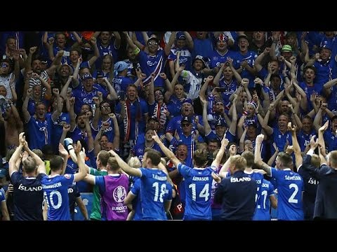 Euro 2016: Οι Ισλανδοί γιορτάζουν τη νίκη επί της Αγγλίας