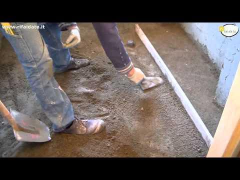 Pavimento in cemento posa,livellamento parte 2