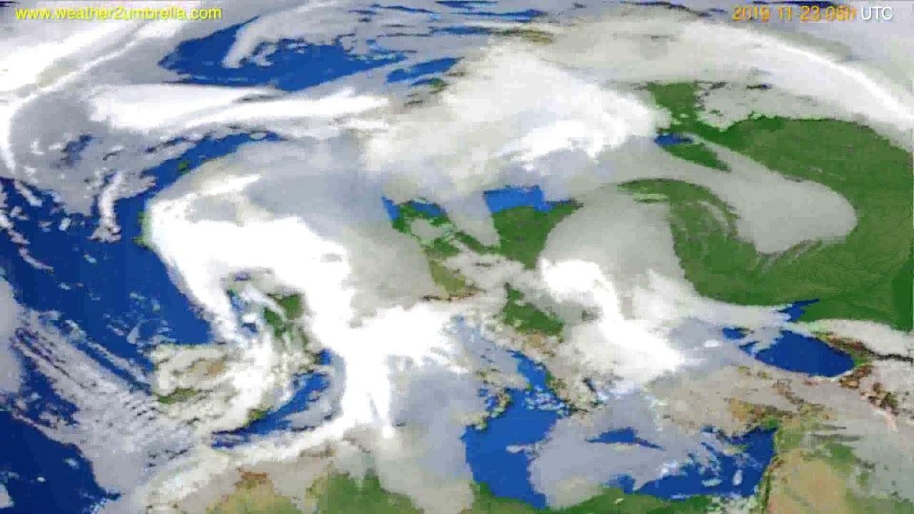 Cloud forecast Europe // modelrun: 12h UTC 2019-11-21