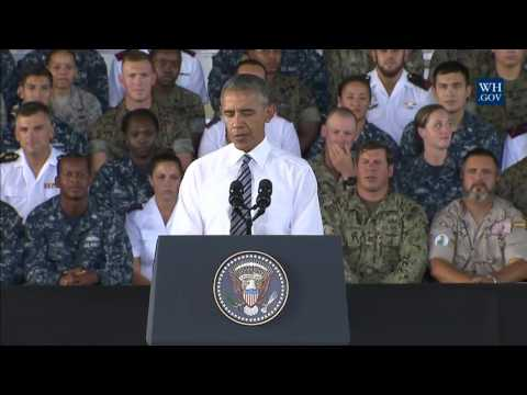 President Obama Delivers Remarks to Service Members