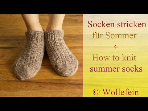 Socken stricken für Sommer – Knitting socks for summer – 3