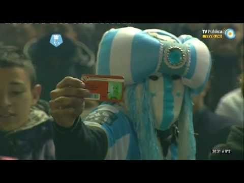 Video - Recibimiento Racing 3 vs Union 0 - Fecha 19 - T. Final 13 - Globos y humo NEGRO! - La Guardia Imperial - Racing Club - Argentina