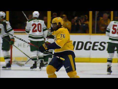 Video: Predators' Subban rips point-shot off Mitchell's stick