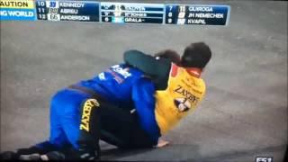NASCAR Fight w/ Wrestling Commentary