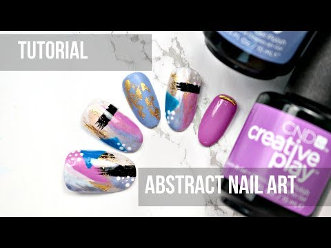 Gel nails - TUTORIA  ABSTRACT NAIL ART- Creative Play Gel Polish
