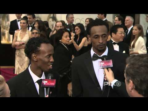 """Barkhad Abdi and Faysal Ahmed Of """"Captain Phillips"""" At 2014 Oscars"""