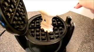 I bought an Oster DuraCeramic Flip Belgian Waffle Maker and decided to share the unboxing and review with you all.  The first waffle I made was a bit soft..I had the heat on the lowest setting.  The 2nd one I turned up the heat and it was much better.  Good waffle maker for only ~ $30.