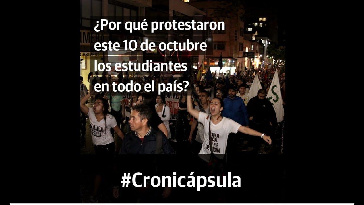 ¿Por qué protestaron este 10 de octubre los estudiantes en Colombia?
