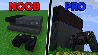 Batalha de Construção: PLAYSTATION 4 DE NOOB VS PLAYSTATION 4 DE PRO!