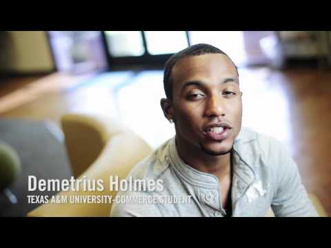Demetrius Holmes talks about his experience at Texas A&M University-Commerce