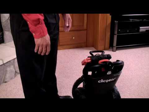 Unfolding instructions for the Clicgear 3.0 Golf Trolley: