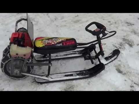 Снегоход для детей видео