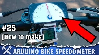 This video is about handmade speedometer / odometer based on Arduino for bicycle, you can find all useful links down here. This is not so benefiteful, but very interesting handmade technology project.Servo and scale show the velocity of bike, and 7 segment display shows the distance (odometer), also ODO is stored in EEPROM, so it keep distance after system reboot.► Page on Instructableshttps://www.instructables.com/id/DIY-Speedometer-on-Arduino/► GitHub (scheme and sketch)https://github.com/AlexGyver/Arduino_speedometer► ComponentsArduino NANO http://ali.pub/pd9j7Hall sensor http://ali.pub/v9li4Servo http://ali.pub/ukaegDisplay http://ali.pub/b8fzv5V dcdc step up http://ali.pub/u5pg9Lithium charger http://ali.pub/zvytc═════════════════════════════★ My websitehttp://alexgyver.ru/★ Me on GutHubhttps://github.com/AlexGyver★ Me on Instructableshttps://www.instructables.com/member/AlexGyver/