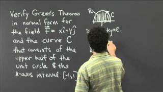Green's Theorem In Normal Form | MIT 18.02SC Multivariable Calculus, Fall 2010