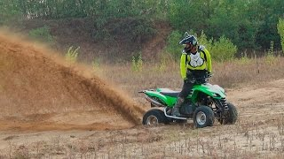 8. Kawasaki KFX 700 in the sand