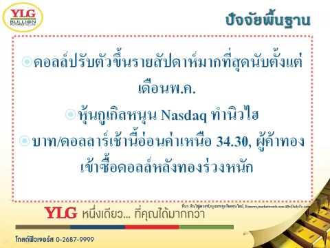 YLG บทวิเคราะห์ราคาทองคำประจำวัน 20-07-15