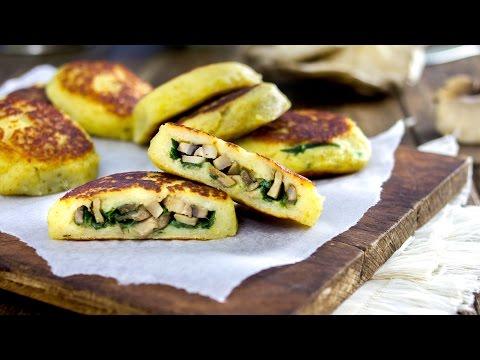 polpette di patate ripiene con funghi e spinaci - ricetta