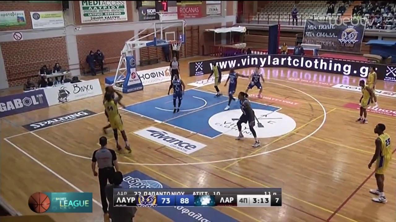 Basket League 2019-2020: ΛΑΥΡΙΟ – ΛΑΡΙΣΑ | HIGHLIGHTS | 28/12/2019 | ΕΡΤ