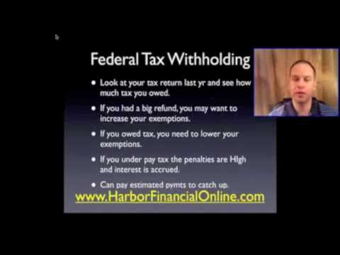 how to adjust federal withholding