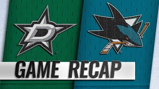 Meier's two goals help Sharks hold off Stars, 3-2 by NHL