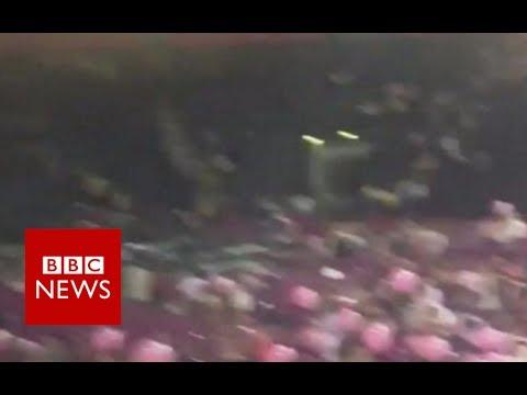 "Manchester Incident Eyewitness: ""Everyone was charging towards the doors"" - BBC News"