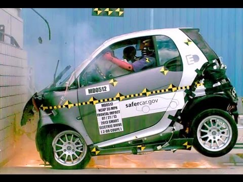 NHTSA releases crash test video of 2013 Smart Fortow Electric Drive