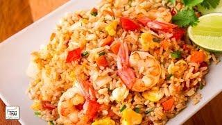 Cómo hacer arroz frito con camarones