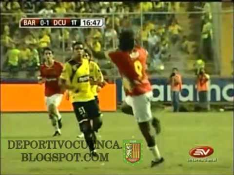 Gol de Néstor Ayala a Barcelona de Ecuador