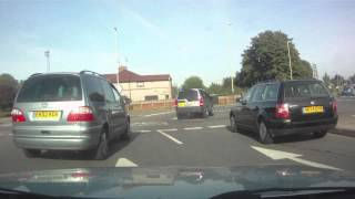 Swindon United Kingdom  city pictures gallery : A Drive Around the Magic Roundabout in Swindon (HD)
