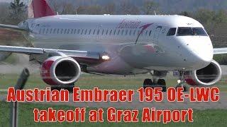 Austrian Airlines OS 255 Graz Airport - Frankfurt Airport 09.04.2017 Departure: 14.40 Arrival: 16.00 Takeoff Graz Airport  GRZ  LOWG Runway 17C, 3000m x 45...
