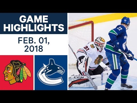 Video: NHL Game Highlights | Blackhawks vs. Canucks – Feb. 1, 2018